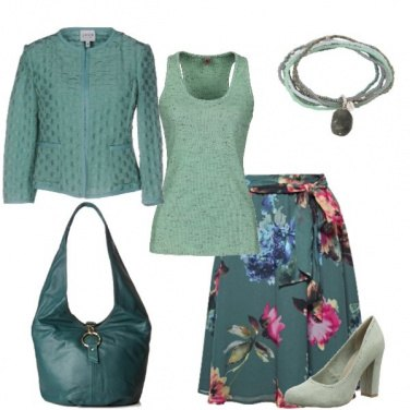 Outfit Color turchese