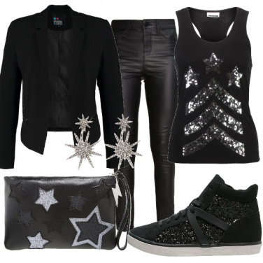 Outfit In discoteca sporty chic