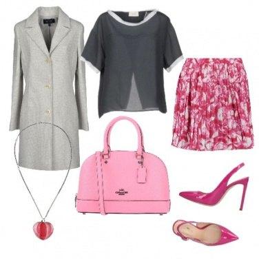 Outfit Il grigio, il rosa