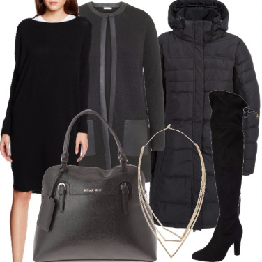Outfit Total black invernale