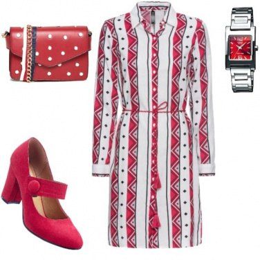 Outfit Rosso ironico