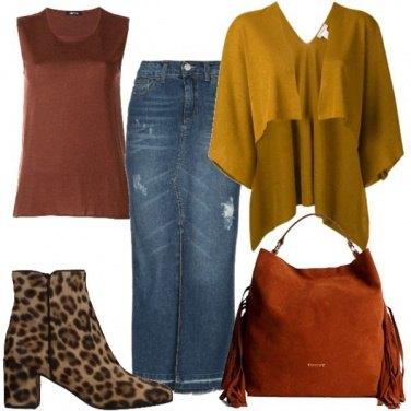 Outfit Colori caldi sul jeans