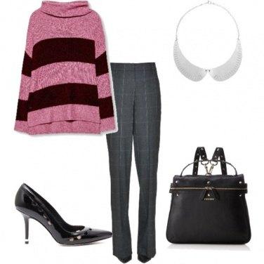 Outfit Bon ton a righe