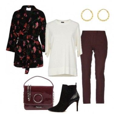 Outfit La giacca kimono floreale