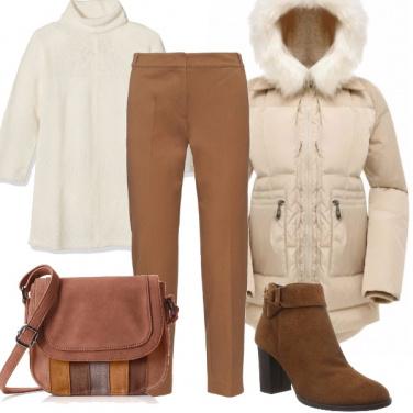 Outfit Un morbido piumino bianco