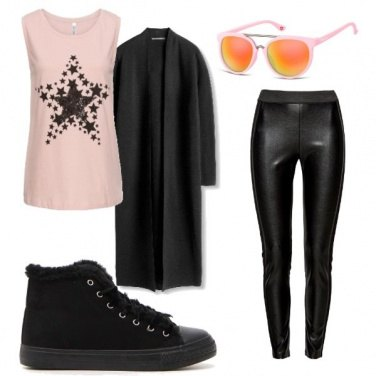 Outfit Pink & dark