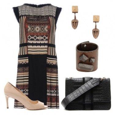 Outfit I colori del caffè per uno stile etnico