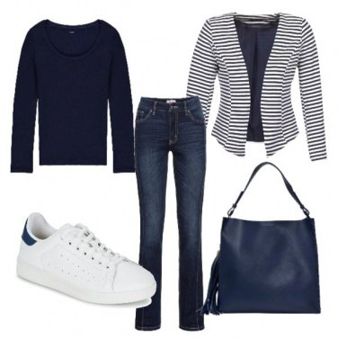 Outfit Blu basic