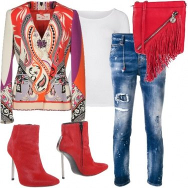 Outfit Red fantasy