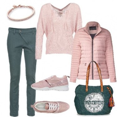 Outfit Autunno rosa