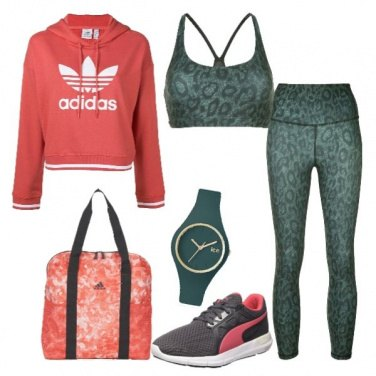 Outfit Fitness in leopardato