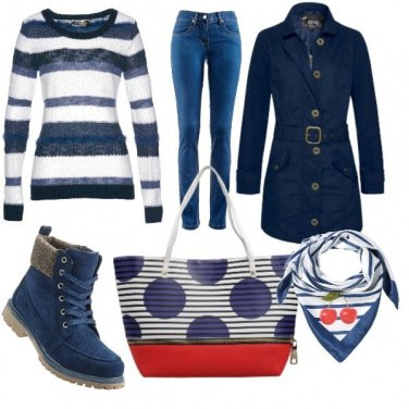 Outfit Marinar style autunnale