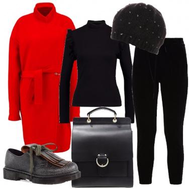 Outfit A lavoro col cappottino rosso