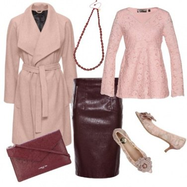 Outfit TSK Burgundy and pink