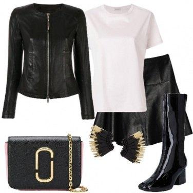 Outfit Orecchini nero e oro