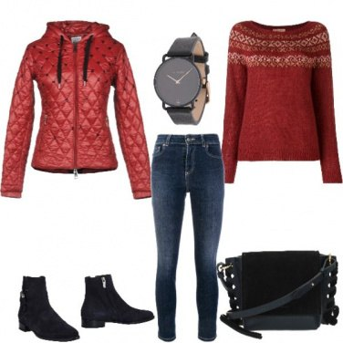 Outfit Piumino +strass
