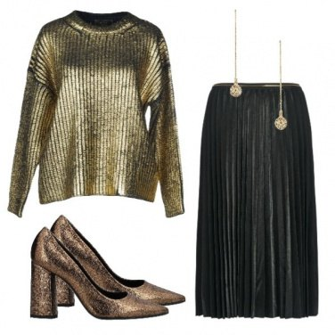 Outfit Golden night