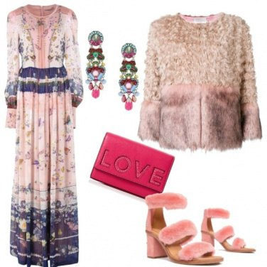 Outfit Chic in rosa