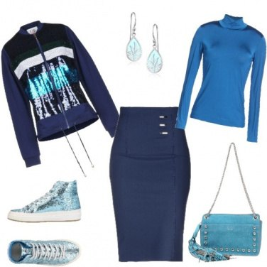 """Outfit Sneakers e Felpa"""" in """"paillettes"""