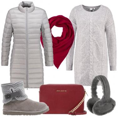 Outfit Grigio ed un po\' di colore