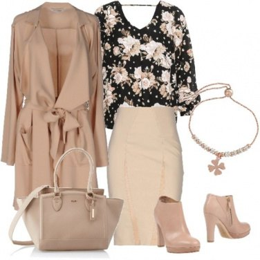 Outfit Flower nude