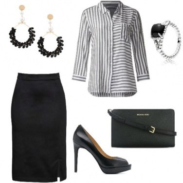 Outfit Blusa a righe