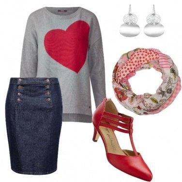 Outfit Segretaria Romantica