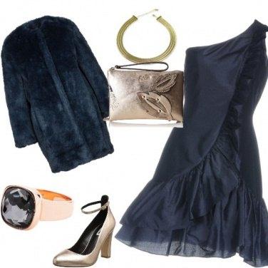 Outfit Shantung e oro
