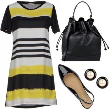 Outfit Ufficio in giallo
