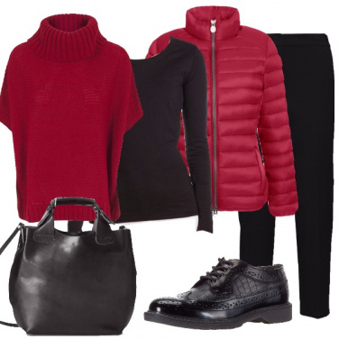 Outfit Rosso fragola per le vacanze in città