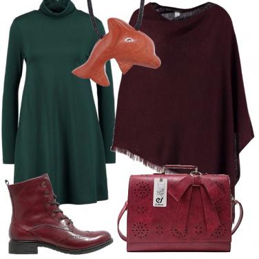 Outfit Verde bordeaux