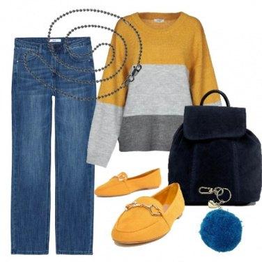 Outfit Righe e giallo