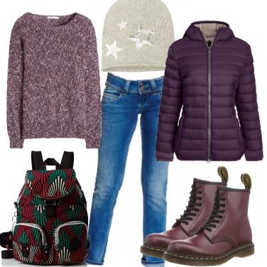 d878e44b2d4e Pensieri per adolescenti  outfit donna Basic per scuola universit ...