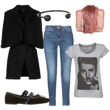 Outfit Denim e cappottino
