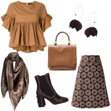 Outfit Flower in brown