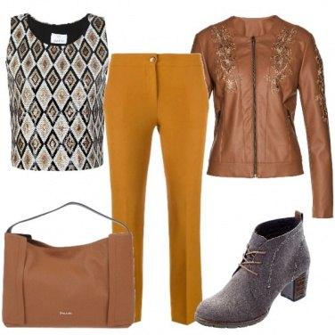 Outfit Oro e caramello