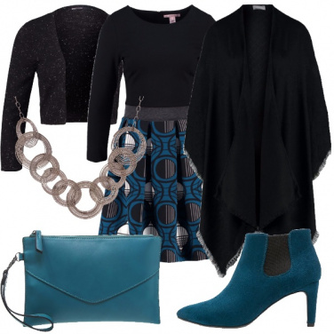 Outfit Se adora il verde petrolio