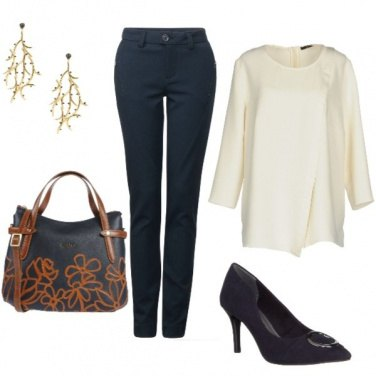 Outfit Blusa crema