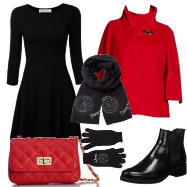 Outfit Vacanze in rosso e nero