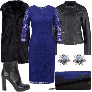 Outfit Blu e nero si può