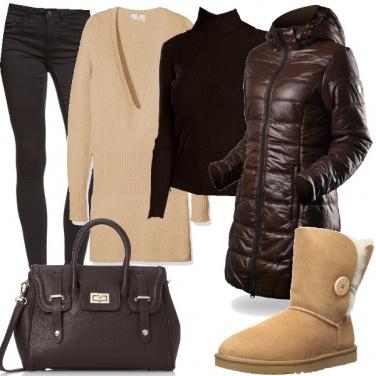 Outfit Crema e cioccolato