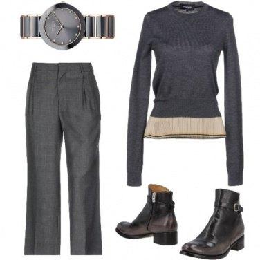 Outfit In grigio in ufficio