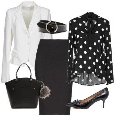 Outfit Eleganza in bianco e nero