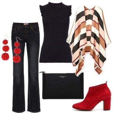 Outfit Tronchetti rossi Pittarello
