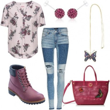 Outfit Pink e butterfly