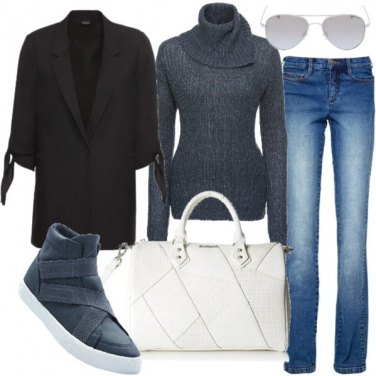 Outfit Giacca over di tendenza