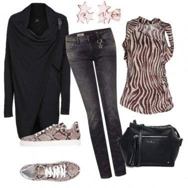 Outfit Zebra e pitone