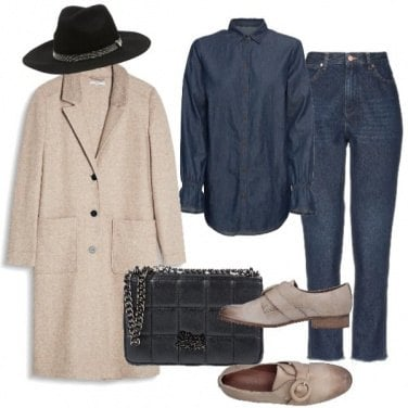 Outfit Completo jeans e cappotto