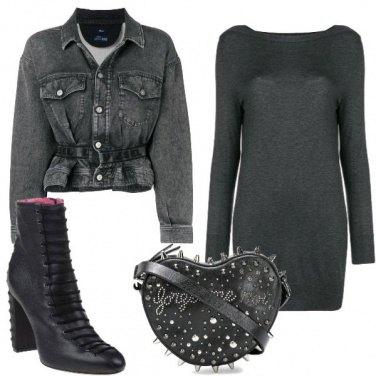 Outfit Cuore e borchie