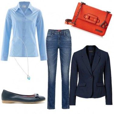 Outfit Camicia azzurra... evergreen